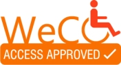 WeCO's trademarked Access Approved Seal