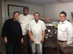 Scott, Kristi, Jerry and Josh can't wait to get this ice cream machine cranking!