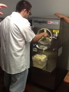 Scott's first batch of ice cream