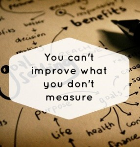 Qoute: You can't improve what you don't measure